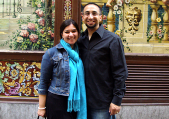 Inter-married couple explores religion together photo